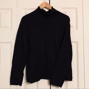 Black Silk Blend Sweater